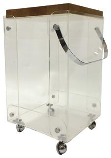 Consigned Vintage Rare Plexiglass Bar Cart