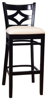 Curtain Back Bar Stool Black White