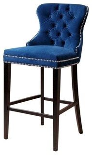 Bowery Hill 30 quot Bar Stool Navy Blue