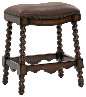Coventry Counter Stool Dark Leather