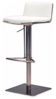 Mobital Bond Adjustable Bar Stool White