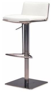 Mobital Bond Adjustable Bar Stool White