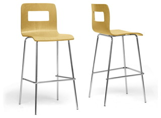 Greta Modern Bar Stool Set of 2 Nature