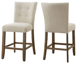 Debby Counter Chair Beige Set of 2 Natural