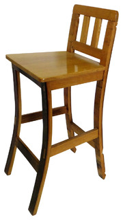 Stave Oak Wood Bar stool handcrafted from reclaimed wine barrels