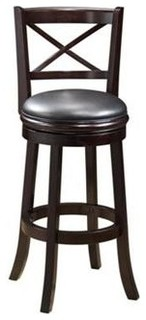 Swivel Hardwood Bar Stool with Light Cherry Finish
