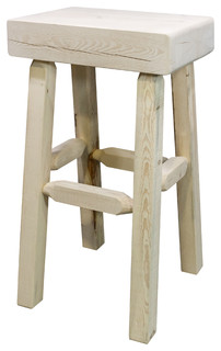 Homestead Collection Half Log Bar Stool Ready to Finish