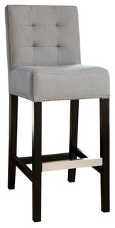 Abbyson Living Linden 30 quot Linen Bar Stool Gray