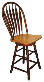Sunset Trading 30 Swivel Barstool Nutmeg Light Oak