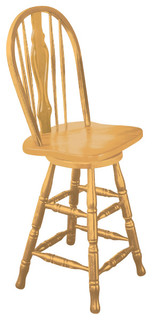 24 Keyhole Barstool Light Oak Finish