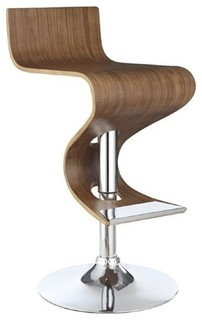 Bowery Hill Adjustable Bar Stool Walnut