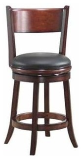 Swivel Counter Stool with Flared Legs and Upholstered Seat