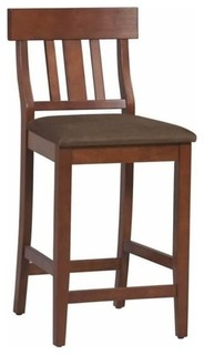 Hawthorne Collection 24 quot Slat Back Counter Stool Dark Cherry