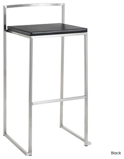 Genoa Barstool Set of 2 Black