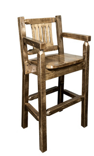 Homestead Collection Captain x27 s Bar Stool Stain and Lacquer Finish