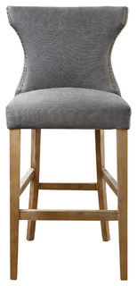 Grover Wing Back Counter Stool Beach Gray