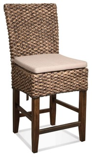 Woven Leaf Counter Stools Set of 2