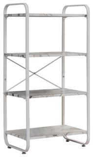 Liese White Transitional Freestanding 4 Tier Storage Organizer Unit