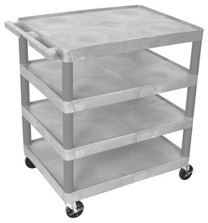 Multi Tiered Serving Cart With 4 Shelf Gray
