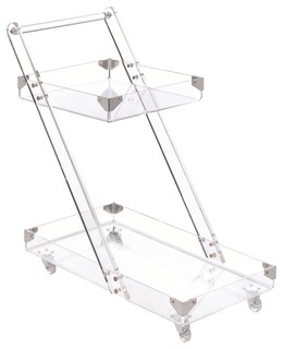 Modern Clear Acrylic Serving Cart by Coaster 181002