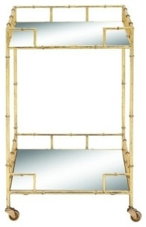 Metal Mirror Bar Cart 18 quot x30 quot