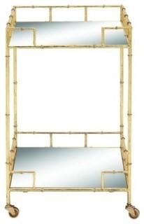 Metal Mirror Bar Cart 18 quot x30 quot