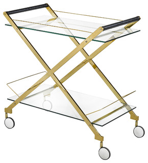 Carew Bar Cart Gold