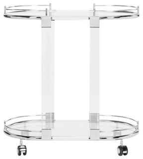 Lennon Acrylic Bar Trolley Chrome