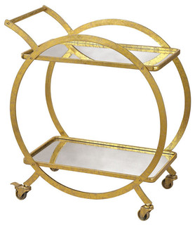 Sterling Signature Gold and Antique Mirror Cart