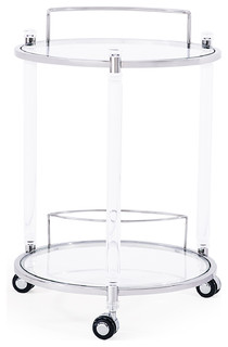 Wilcox Bar Trolley Silver