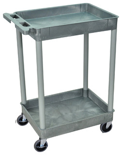 2 Level Serving Cart Gray