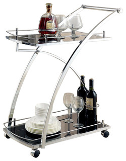 Serra Contemporary Serving Cart
