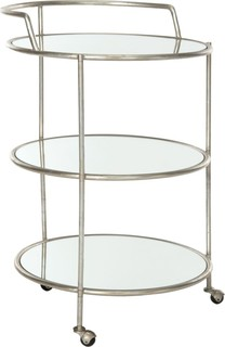 Safavieh Dulcinea Bar Cart Silver Mirror Top