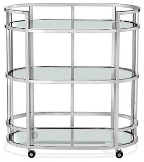 Hayden Bar Cart Nickel