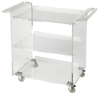 Butler Crystal Clear Acrylic Trolley Server