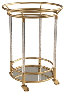 Kenna Cylinder Bar Cart Gold