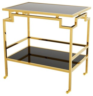 Gold Bar Cart Eichholtz Tuxedo Black 28 quot x29 quot x28 quot