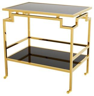 Gold Bar Cart Eichholtz Tuxedo Black 28 quot x29 quot x28 quot