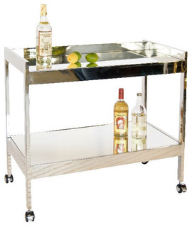 Roland Bar Cart Nickel