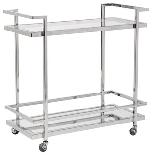 Bar Cart Brentwood Polished Chrome New