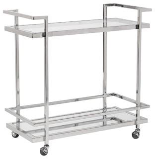 Bar Cart Brentwood Polished Chrome New