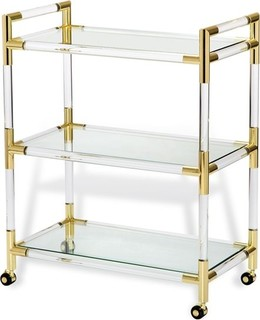 Julien Bar Cart Brass