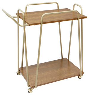 Emory 2 Tier Hairpin Bar Cart Gold
