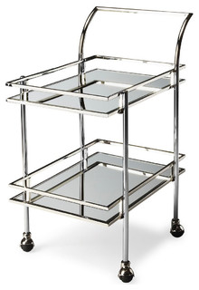Butler Gatsby Nickel Loft Bar Cart