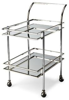 Butler Gatsby Nickel Loft Bar Cart