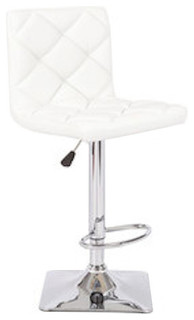 Rio Adjustable Swivel Bar Stools Set of 2 White
