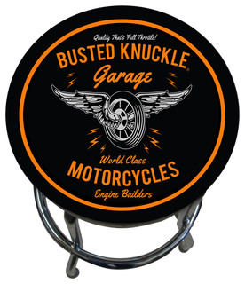 Motorcycle Themed Counter Stool