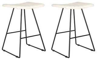 Safavieh Akito Counter Stools Set of 2 Cream