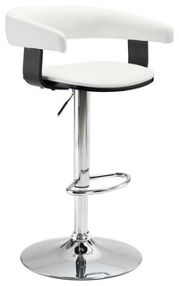 ZUO Fuel 24 4 quot Counter Stool White