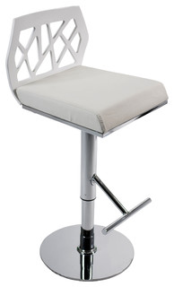 Sophia Bar Counter Stool White Chrome
